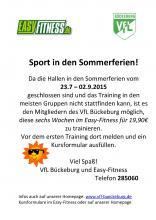 Sportangebot in den Sommerferien