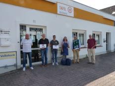 VfL-Helfer und Fahrer u. Mitarbeiter der Tafel: v.l.n.r.:J. Rinne,W. Keusch, K. Dewucki, C. Baumgärtner, W. Raschke u. G. Hävemeier